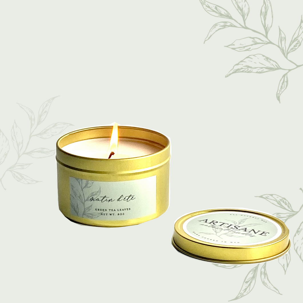 NEW Matin d'Été Tin Candle | green tea, mint, bergamot