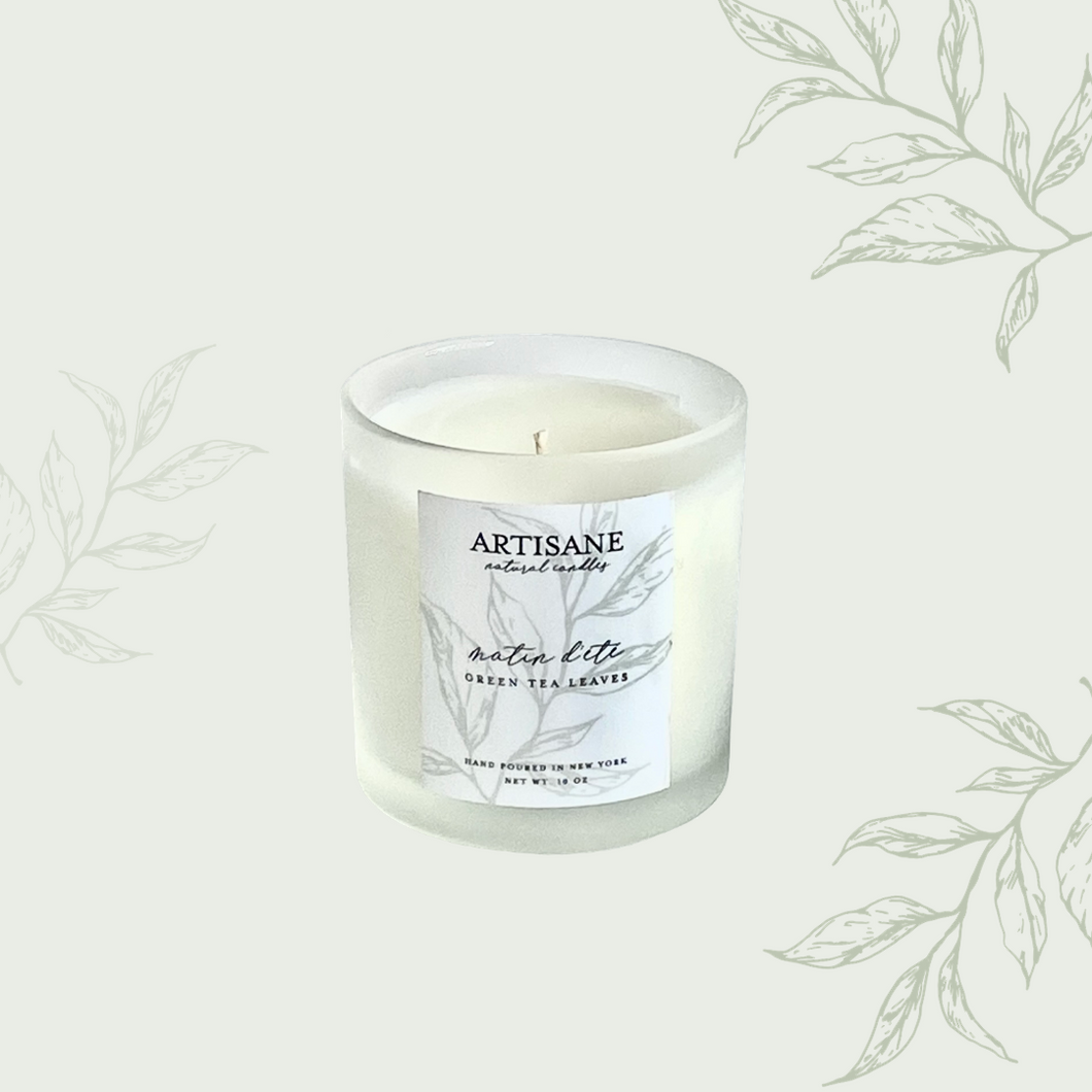 NEW Matin d'Été Glass Jar Candle | green tea leaves