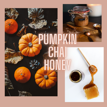 Load image into Gallery viewer, Chai Pumpkin Glass Jar Candle | chai, pumpkin, honey - LIMITED EDITION