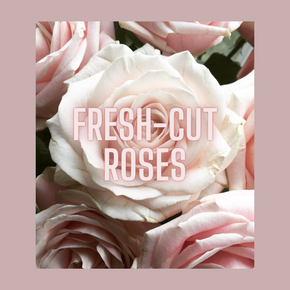 Mademoiselle Rose Candle (fresh-cut roses)
