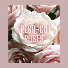 Load image into Gallery viewer, Mademoiselle Rose Gold Tin Candle | fresh-cut roses