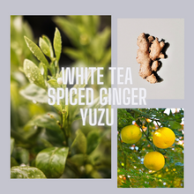 Load image into Gallery viewer, Après-Midi Gold Tin Candle | white tea, spiced ginger, yuzu