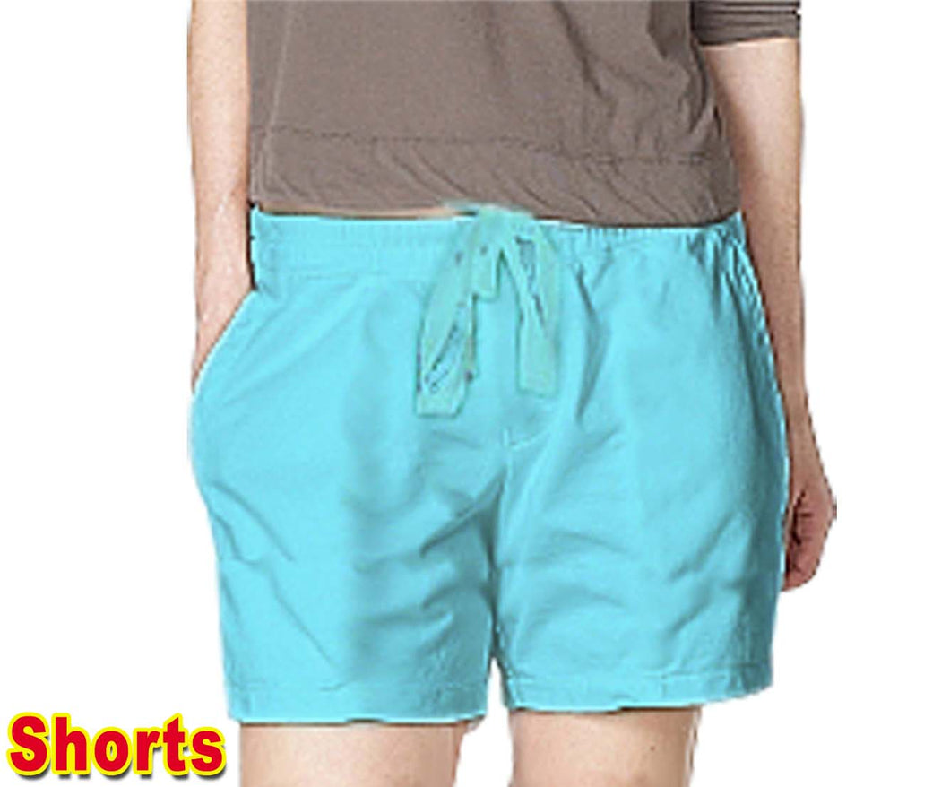 BLACK Microfiber Fabric Shorts