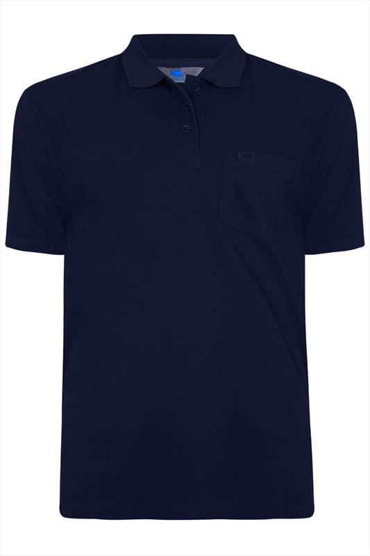 Navy Plain Polo Shirt With Chest Pocket