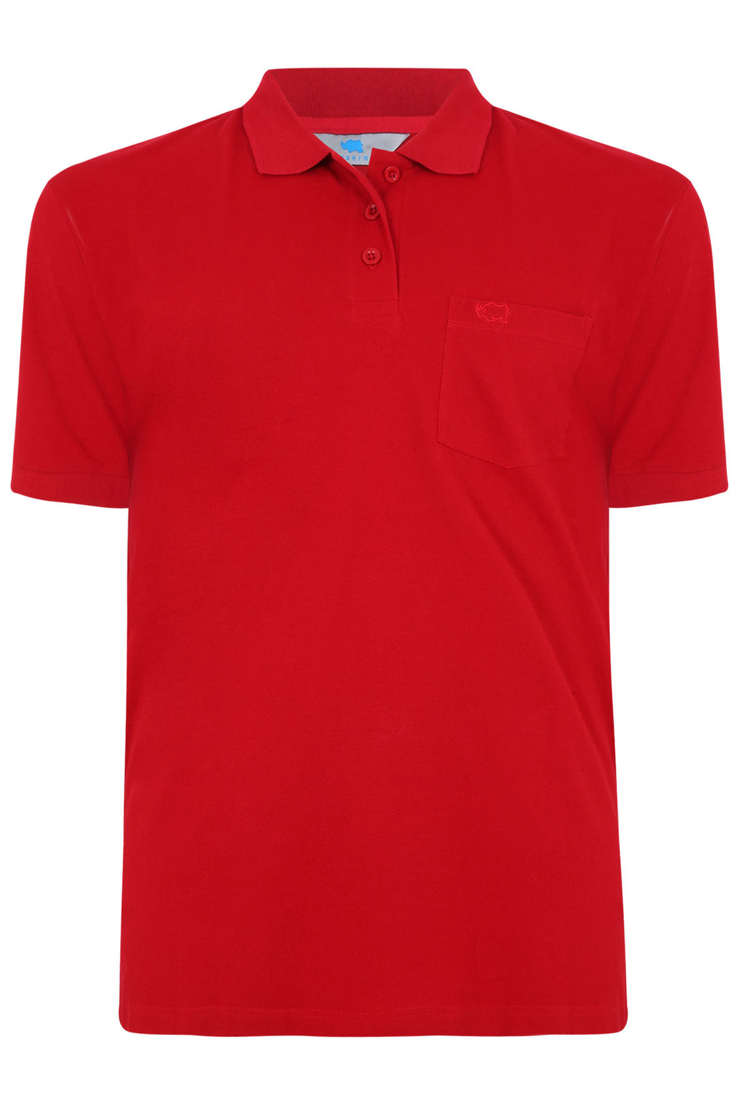 Red Plain Polo Shirt With Chest Pocket