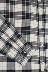 Blue Brushed Checked Shirt