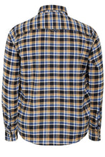 Mustard Brushed Cotton Checked Shirt