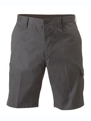 Bisley BSH1999 Lightweight Cotton Drill Utility Shorts - Black, Plus size
