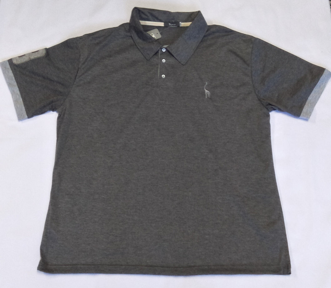 Men's Short Sleeve Polo Shirt - Grey