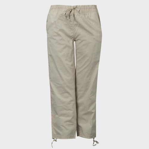 Ladies Plus Size Linen-Look Trousers