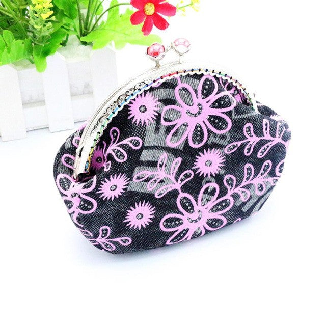 2017 Women Small Wallet Lady Flower Small Wallet Hasp Purse Clutch Bag  carteras mujer #XTJ