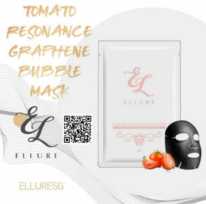 Ellure Tomato Resonance Graphene Bubble Mask x 3