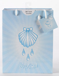 Large Baptism - Boy  Gift Bag with Gift Tissue