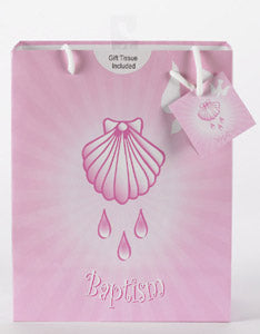 Large Baptism Girl Gift Bag with Gift Tissue