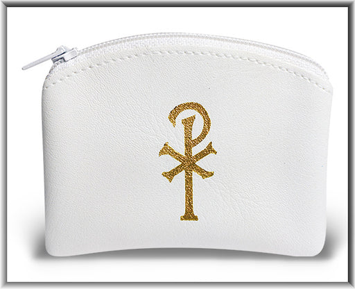 White Rosary Case