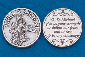 Religious Coin Token - St Michael the Archangel with Prayer
