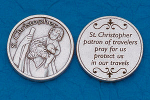 Pocket Prayer Token with St Christopher with Prayer