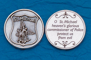 Pocket Prayer Token with Policeman's Prayer - St Michael