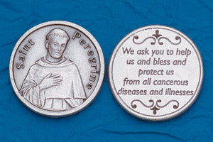 Pocket Prayer Token with St Peregrine with Prayer