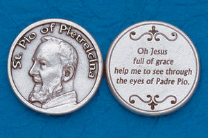Pocket Prayer Token with St Padre Pio with Prayer