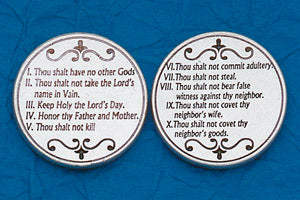 Pocket Prayer Token with The Ten Commandments