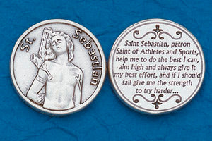 Pocket Prayer Token with St Sebastian