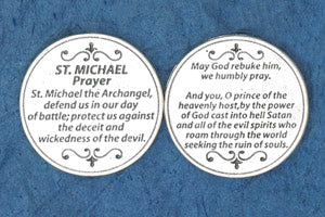 Pocket Prayer Token with Saint Michael Prayer