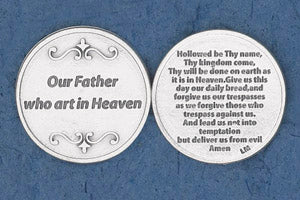 Pocket Prayer Token with Our Father