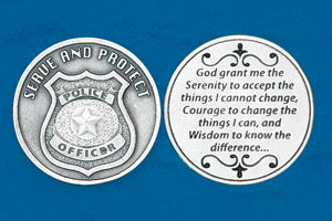 Pocket Prayer Token with Policeman's Serenity Prayer