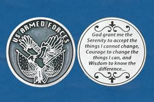 Religious Coin Token Soldier's Serenity Prayer