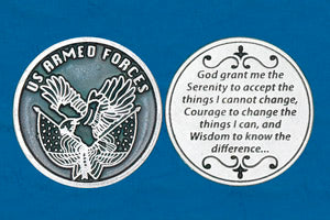 Pocket Prayer Token with Soldier's Serenity Prayer