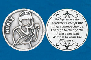 Religious Coin Token - Nurse's Serenity Prayer