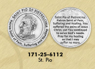 Healing Saints Token - Saint Pio of Pietrelcina