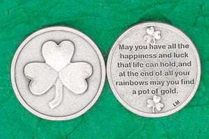 Irish Prayer Coin - May you have all the happiness and luck