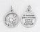 3/4 inch Silver Plated St Christopher Prayer Pendant