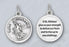 3/4 inch Silver Plated St Michael Prayer Pendant