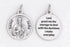 3/4 inch Silver Plated St Jude Prayer Pendant