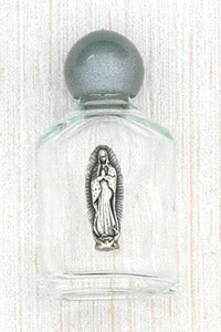 Holy Water Glass Bottle - Guadalupe
