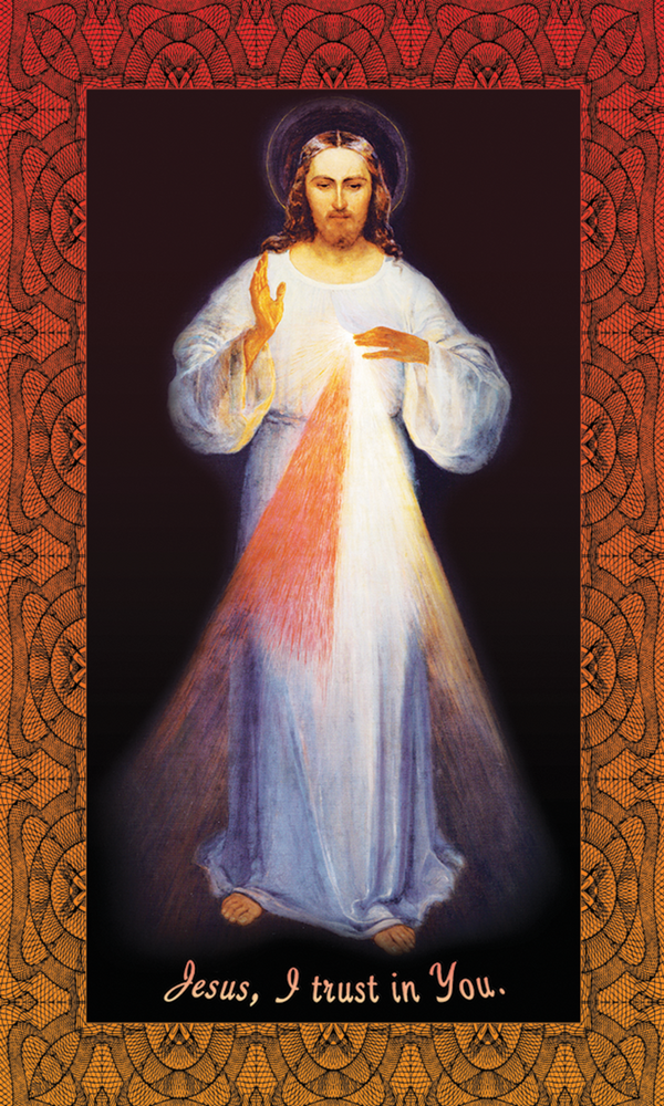 Divine Mercy Holy Card - Jesus I Trust In You - 25-Pack