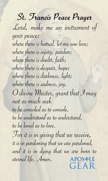 St. Francis of Assisi Prayer Cards - 25-Pack