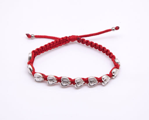 Our Lady of Medjugorje Rosary Bracelet - Red Cord