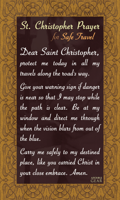 St. Christopher Traveler Prayer Card - 25-Pack