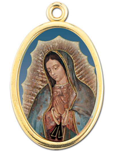 Gold Oval Our Lady Of Guadalupe Picture Medal