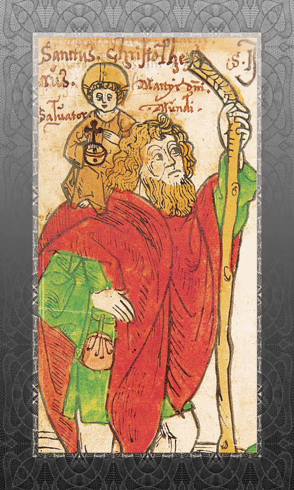 St. Christopher Ancient Prayer Card - 25-Pack