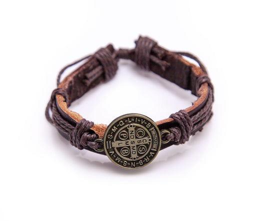 Leather St. Benedict Bracelet