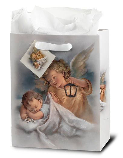 Guardian Angel with Lamp Med Gift Bag with Tissue
