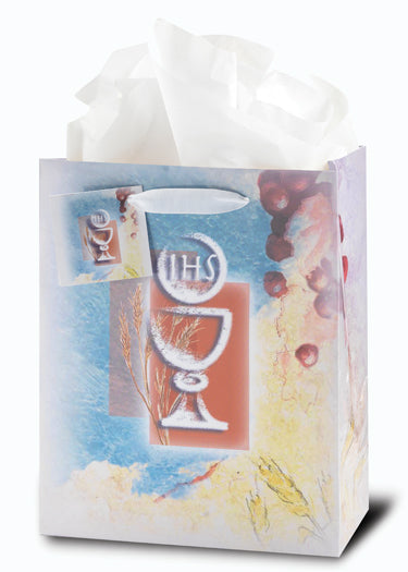 Communion (White Chalice) Med Gift Bag 10