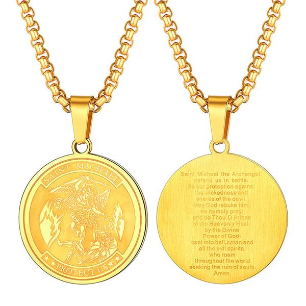 St. Michael the Archangel Round Necklace