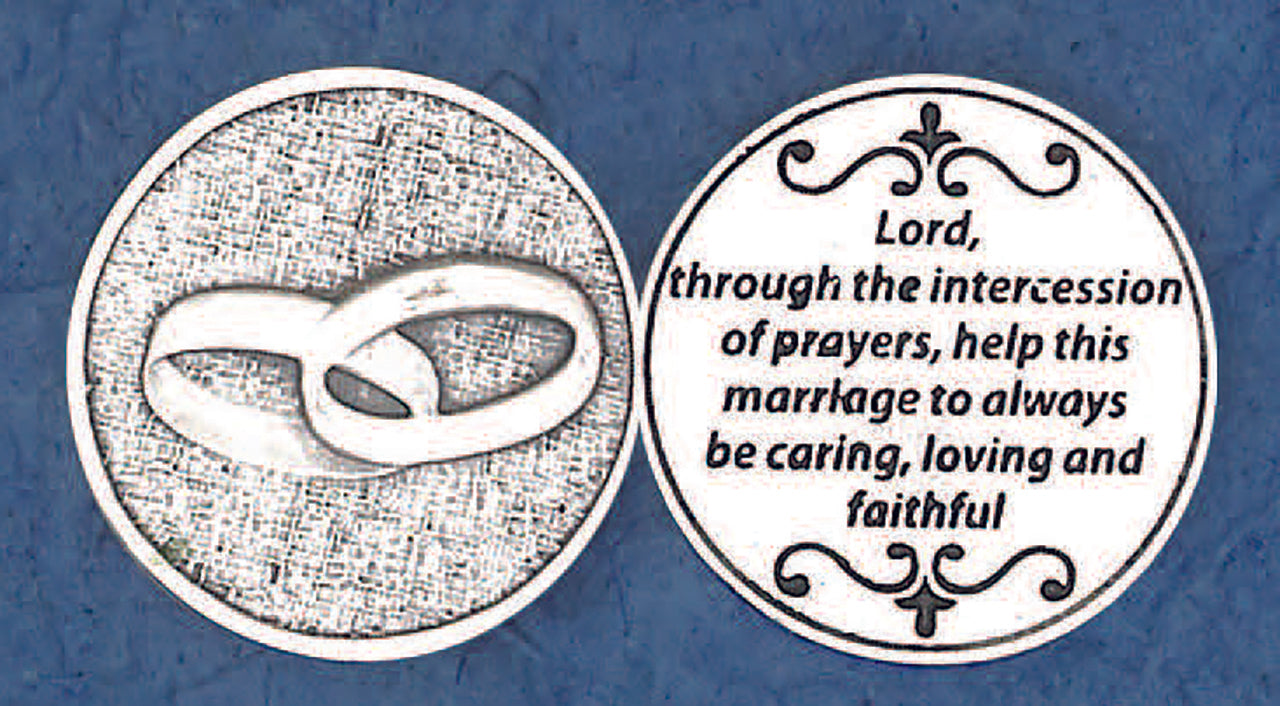 Pocket Prayer Token with Unity Rings
