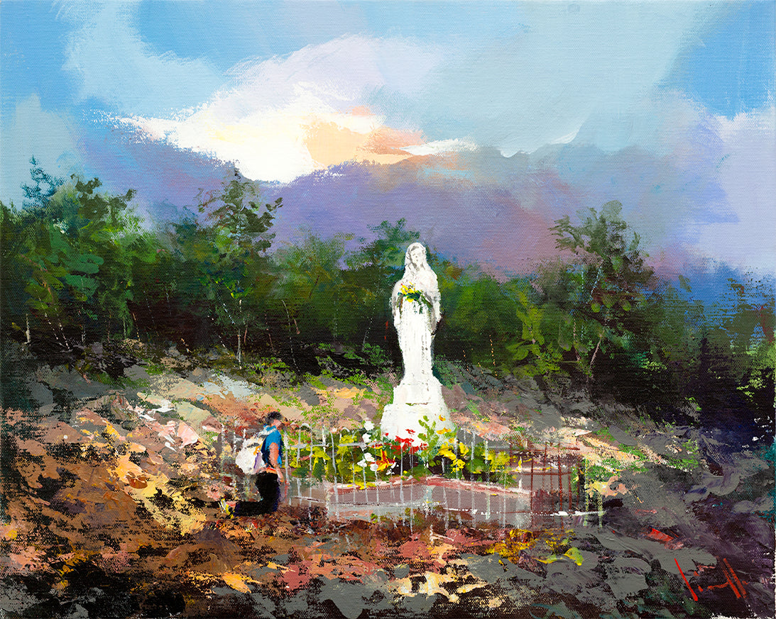 Apparition Hill Print - Mother To Mother painting